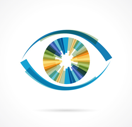 Photo pour Set of colorful eye icons - image libre de droit