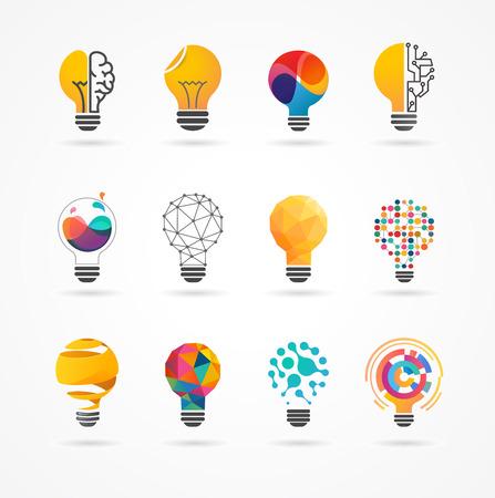 Illustration pour Light bulb - idea, creative, technology icons and elements - image libre de droit