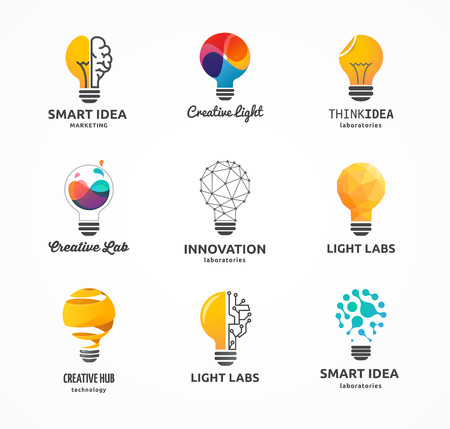 Illustration pour Light bulb - idea, creative, technology icons and elements - image libre de droit