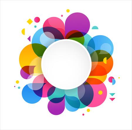 Foto de Colorful abstract background, poster, with splash rainbow color, vector concept design - Imagen libre de derechos