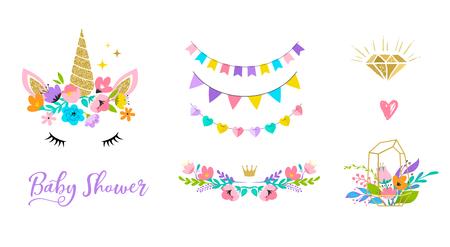 Illustration for Unicorn cute illustration, card and shirt design. - Royalty Free Image