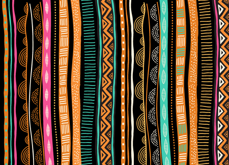 Illustration pour African background, flyer with tribal traditional grunge pattern. Concept design - image libre de droit