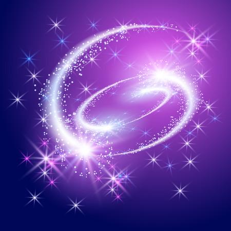 Ilustración de Glowing salute and firework with sparkle stars - Imagen libre de derechos