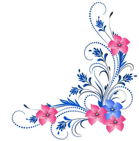 Illustration pour Decorative corner ornament - image libre de droit