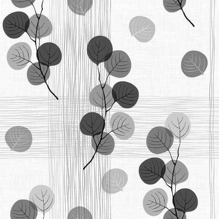Illustration pour Seamless pattern of abstract branches.  - image libre de droit