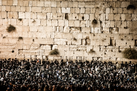 Foto de Prayers at the Western Wall, Jerusalem, Israel. - Imagen libre de derechos
