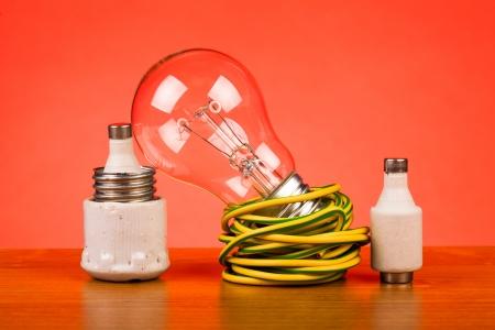 Foto de electrician tools on table - Imagen libre de derechos