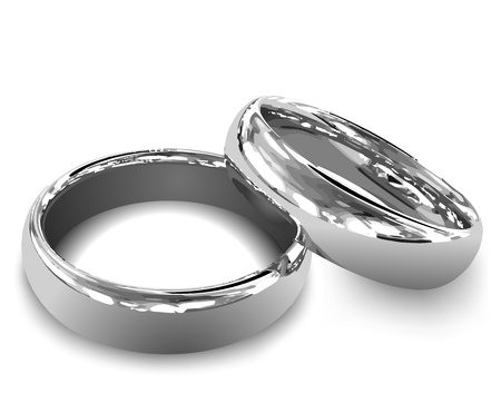 Illustration for Platinum wedding rings illustration - Royalty Free Image