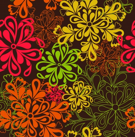 Flower Pattern seamless background  Vector mural