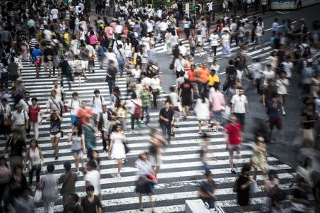 Photo pour Tokyo crowd - image libre de droit