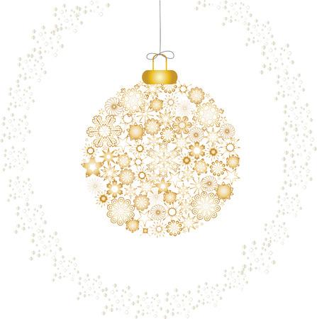 Christmas decoration snowflakes gold white