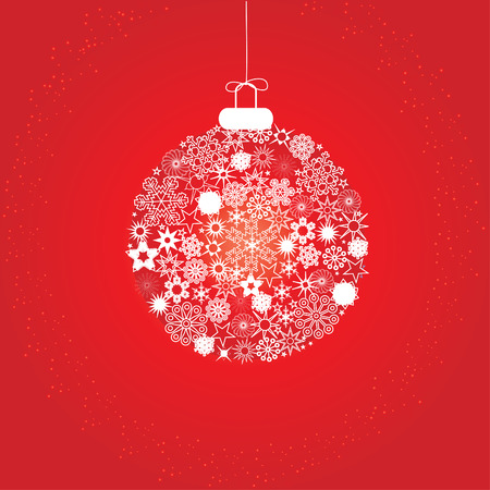 Christmas decoration snowflakes red white