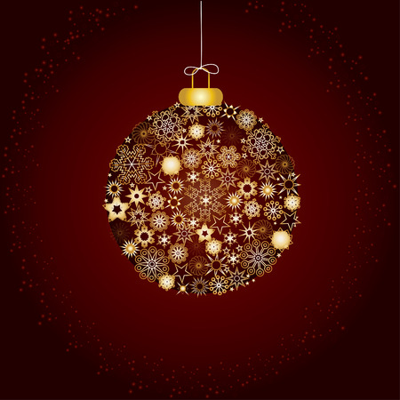 Christmas decoration snowflakes brown