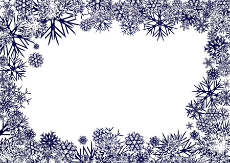 Blue Snowflakes Background, background for your greetings card, vector illustration, see more at my portfolio, you can type your text