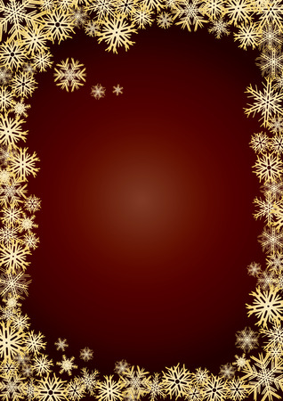 Background new year gold snowflakes, background for your greetings card, vector illustration, see more at my portfolio, you can type your text