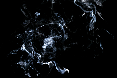 Photo pour Abstract, white smoke isolated on black background. Isolate - image libre de droit