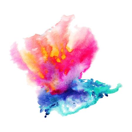 Ilustración de Abstract hand drawn watercolor background,vector illustration, stain watercolors colors wet on wet paper. Watercolor composition for scrapbook elements with empty space for text message. - Imagen libre de derechos