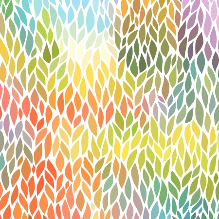 Illustration for vector seamless abstract hand-drawn pattern - Royalty Free Image