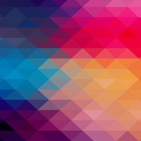 Ilustración de Retro pattern of geometric shapes. Colorful mosaic banner. Geometric hipster retro background with place for your text. Retro triangle background - Imagen libre de derechos