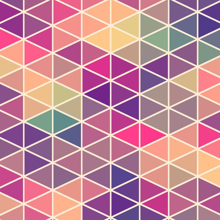 Foto de Triangles pattern of geometric shapes. Colorful mosaic backdrop. Geometric hipster retro background, place your text on the top of it. Retro triangle background. Backdrop - Imagen libre de derechos