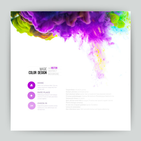 Illustrazione per Vector abstract cloud. Ink swirling in water, cloud of ink in water isolated on white. Abstract banner paints. Holi. Liquid ink. Background for banner, card, poster, poster, identity,web design.Juice - Immagini Royalty Free