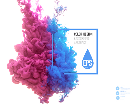 Illustration pour Vector abstract cloud. Ink swirling in water, cloud of ink in water isolated on white. Abstract banner paints. Holi. - image libre de droit