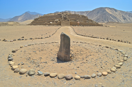Photo pour Caral,  the most ancient city in the Americas. Located in Supe valley, 200km north of Lima, Peru - image libre de droit