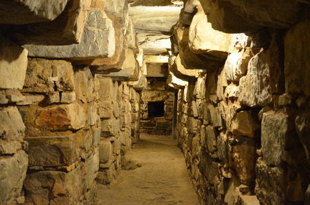 Photo for Underground tunnels within the main temple of Chavin de Huantar, Ancash, Peru - Royalty Free Image