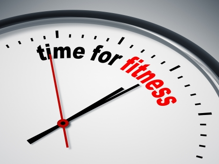 An image of a nice clock with time for fitness