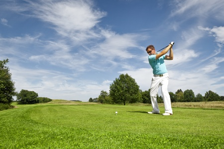 An image of a young male golf player