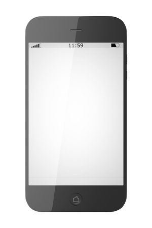An image of a smart phone isolated on white background