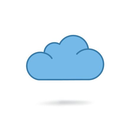 Illustration pour cloud icon. Flat design style - image libre de droit