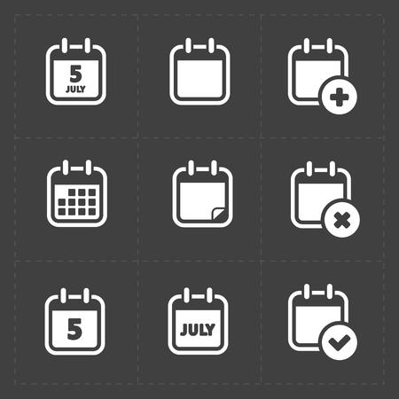 Illustration pour Vector White Calendar Icons - image libre de droit