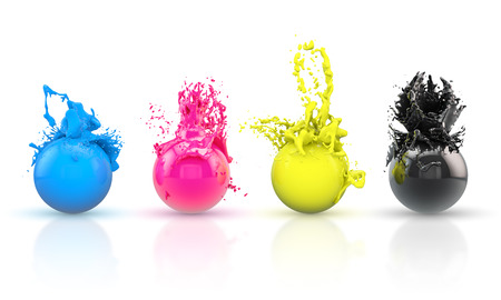 Foto de CMYK balls - Imagen libre de derechos