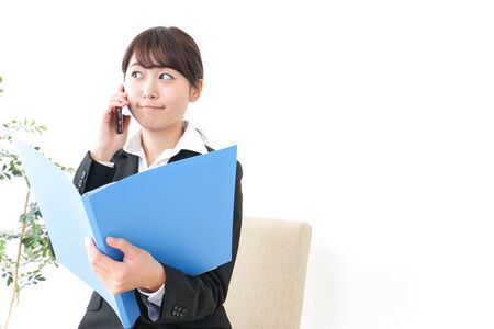 Photo for business woman informing boss - Royalty Free Image