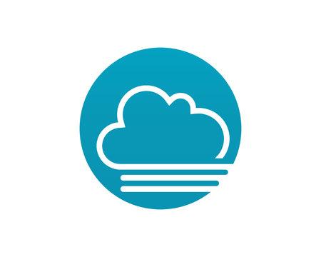 Illustration pour Cloud servers data logo and symbols icons flat design vector illustration - image libre de droit