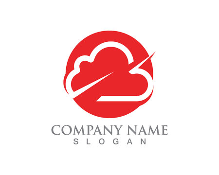 Illustration pour Cloud servers data logo and symbols icons - image libre de droit