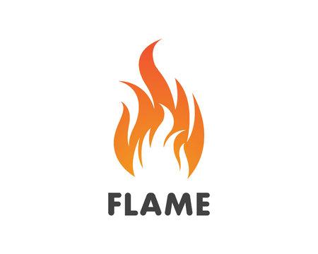 Ilustración de Fire flame Template vector icon Oil, gas and energy logo concept - Imagen libre de derechos