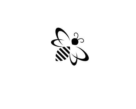Illustration pour bee logo and symbol vector template - image libre de droit