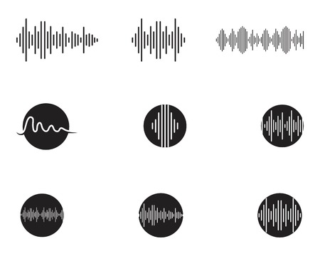Ilustración de Sound waves vector illustration design template - Imagen libre de derechos