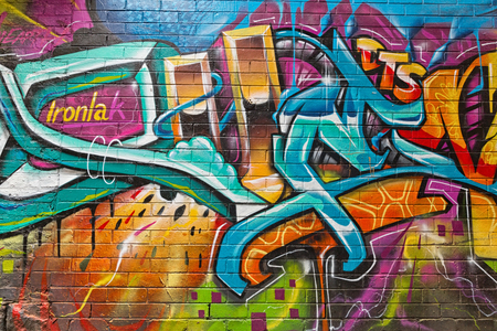 Photo for Melbourne, Australia - February 2015: Street art by unidentified artist. Melbourne's graffiti management plan recognises the importance of street art in a vibrant urban culture - Royalty Free Image
