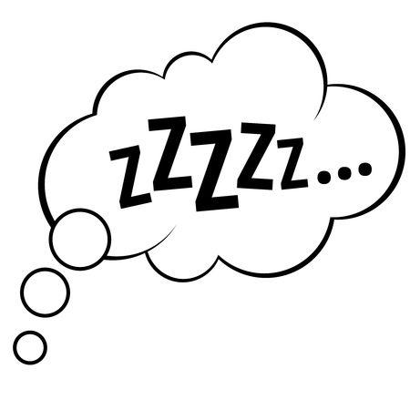 Illustration pour Sleep comic bubble zzzzz vector illustration - image libre de droit