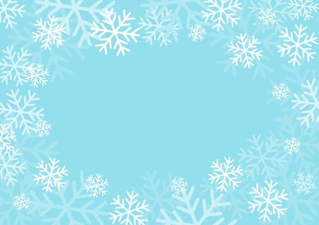 Illustration for Winter card with snowflakes. Vector paper illustration. - Royalty Free Image