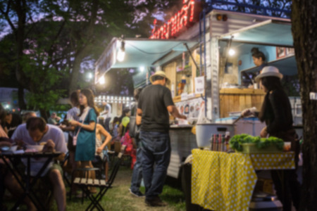 Photo for Food Truck Blurred on Purpose - Royalty Free Image