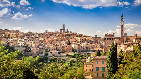 Photo for Scenic view of Siena town and historical houses, Tuscany, Italy - Royalty Free Image