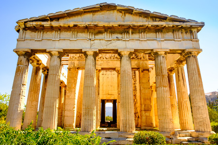 Photo for Scenic view of temple of Hephaestus in Ancient Agora, Athens, Greece - Royalty Free Image