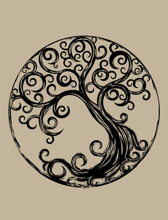 Illustration pour Cycle tree, art vector design - image libre de droit