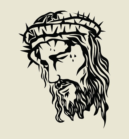 Illustration pour Jesus Christ Sketch, art vector design - image libre de droit