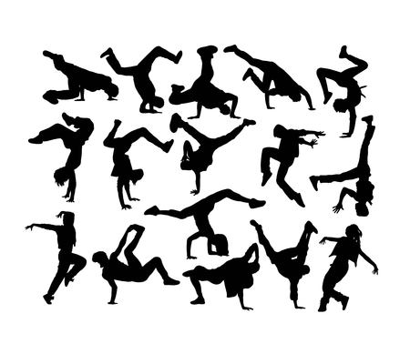 Photo for Happy Dancer Silhouettes, art vector design - Royalty Free Image