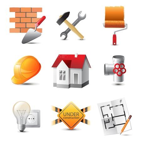 Photo pour Highly detailed building icons set - image libre de droit